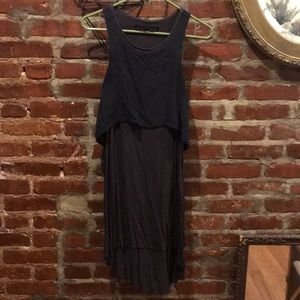 All Saints Silk Sleeveless Midi Tiered Dress